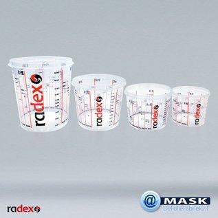 Radex Radex Premium transparante mengbekers