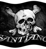 Santiano flag skull