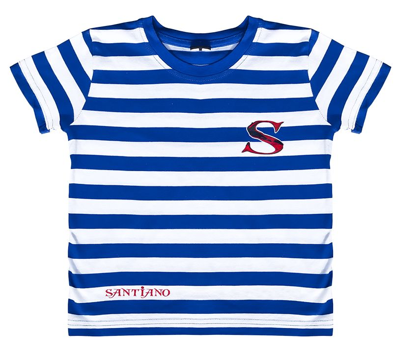 "Kids t-shirt ""Santiano"" striped"