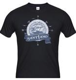 """Herren T-Shirt """"Gott muss ein Seemann sein"""" schwarz"""