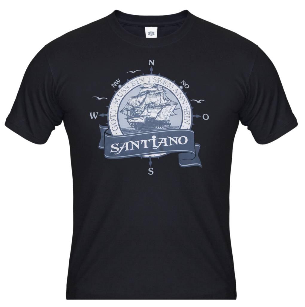 """Men's t-shirt """"Gott muss ein Seemann sein"""" black"""