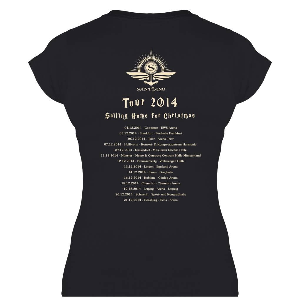 """Damen Tour T-Shirt """"Sailing Home for Christmas 2014"""""""