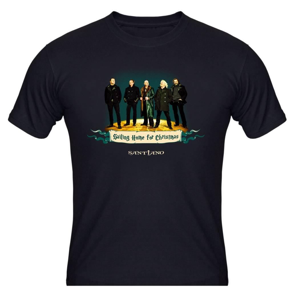 "Herren Tour T-Shirt ""Sailing Home For Christmas 2014"""