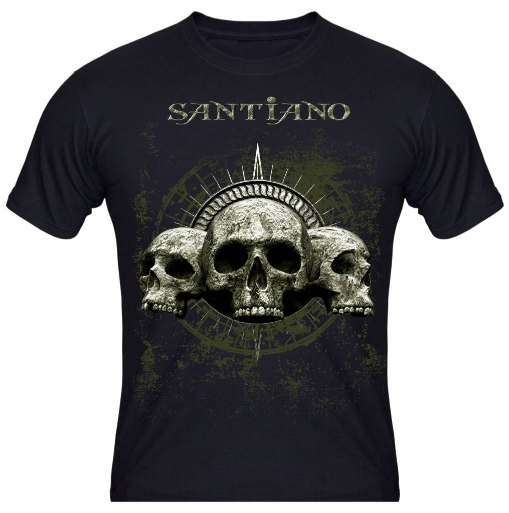 men 39 s t shirt skull santianoshop. Black Bedroom Furniture Sets. Home Design Ideas