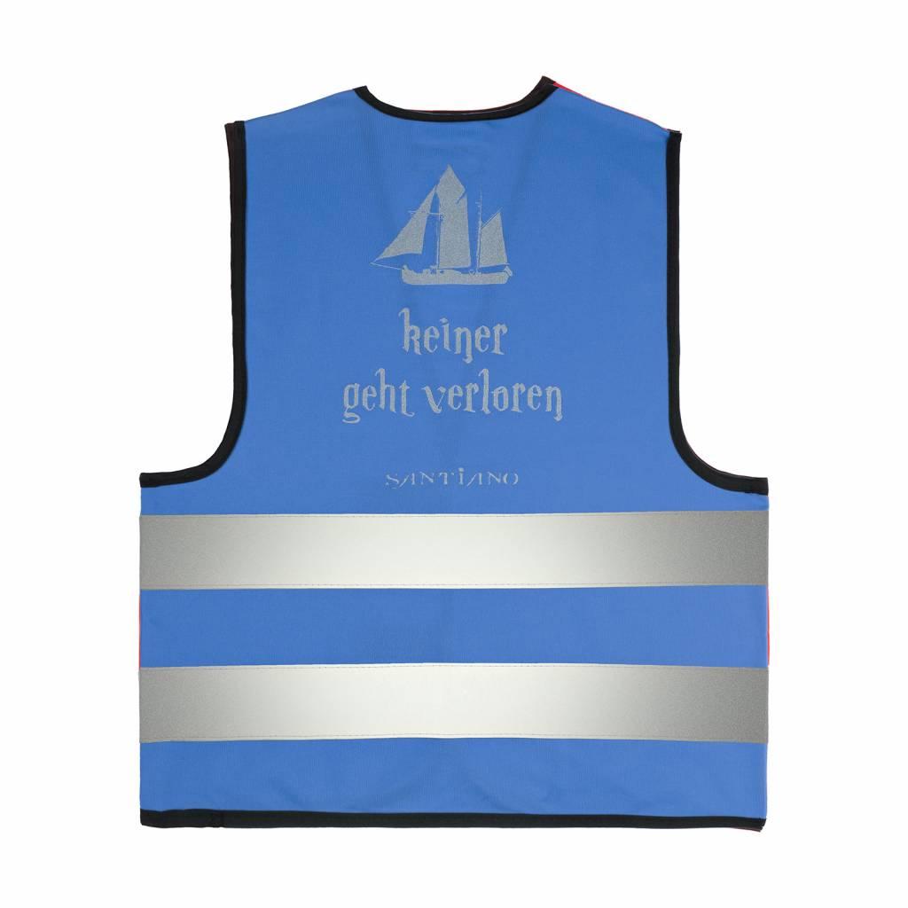 """Kids high-visibility vest """"Keiner geht verloren"""", blue"""