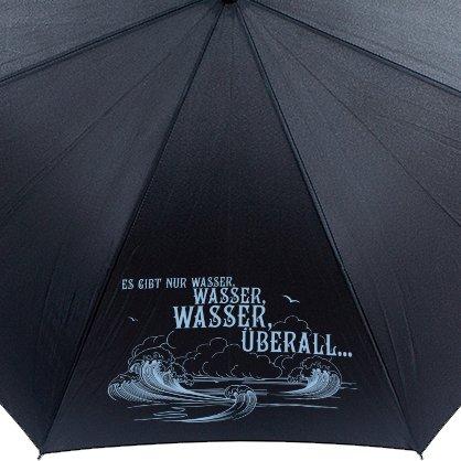 """Santiano Regenschirm """"Es gibt nur Wasser"""" - schwarz"""