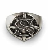 """Santiano Ring """"Windrose"""", Sterlingsilber"""