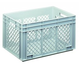 Eurocontainer 600x400x340 mm perforated side walls, heavy duty, food proved plastic