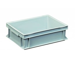 Eurobehälter 400x300x120 mm geschlossene Ausführung, geeignet für schwere Lasten und Lebensmittekontakt