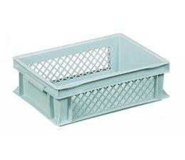 Eurobehälter 400x300x120 mm durchbrochene Wände, geeignet für schwere Lasten und Lebensmittekontakt