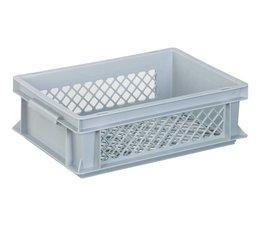 Eurobehälter 400x300x125 mm durchbrochene Wände und Boden, geeignet für schwere Lasten und Lebensmittekontakt