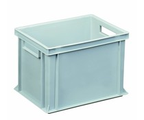Euro container 400x300x270 solid open handles
