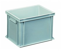 Euro container 400x300x270 solid two handles