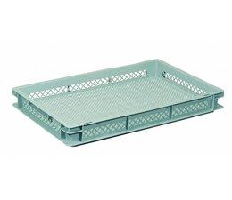 Eurobehälter 600x400x73 mm durchbrochene Wände und Boden, geeignet für schwere Lasten und Lebensmittekontakt