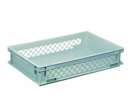 Eurobehälter 600x400x120 mm durchbrochene Wände, geeignet für schwere Lasten und Lebensmittekontakt