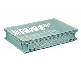 Eurobehälter 600x400x120 mm durchbrochene Wände und Boden, geeignet für schwere Lasten und Lebensmittekontakt