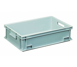 Eurocontainer 600x400x150 mm solid and reinforced base, heavy duty, food proved plastic