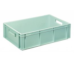 Eurocontainer 600x400x170 mm solid walls and bottom, heavy duty, food proved plastic