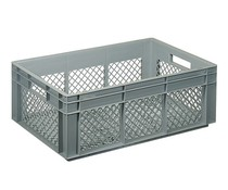 Euro container 600x400x220 perforated side walls