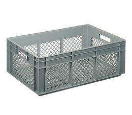 Eurobehälter 600x400x220 mm durchbrochene Wände und Boden, geeignet für schwere Lasten und Lebensmittekontakt