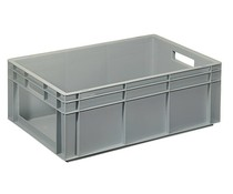 Euro container 600x400x220 solid wall with open front