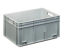 Euro container 600x400x280 solid open handles