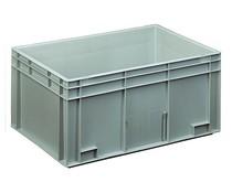 Euro container 600x400x280 solid two handles
