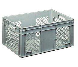 Eurobehälter 600x400x280 mm durchbrochene Wände, geeignet für schwere Lasten und Lebensmittekontakt
