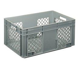 Eurobehälter 600x400x280 mm durchbrochene Wände und Boden, geeignet für schwere Lasten und Lebensmittekontakt