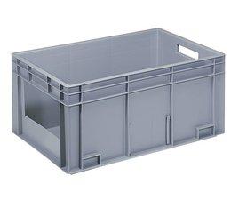 Eurobehälter 600x400x280 mm offene Frontseite, geeignet für schwere Lasten und Lebensmittekontakt