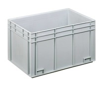 Euro container 600x400x340 solid two handles