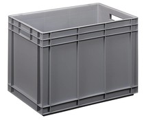 Euro container 600x400x420 solid open handles