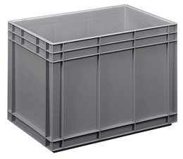 Eurobehälter 600x400x420 mm geschlossene Ausführung, geeignet für schwere Lasten und Lebensmittekontakt