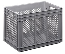 Euro container 600x400x420 perforated side walls