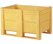 DOLAV Palletbox 1200x800x740 • 500L geel gesloten