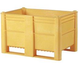 DOLAV Box pallet 1200x800x740 mm, volume 500 l, 2 skids, heavy duty, food proved plastic