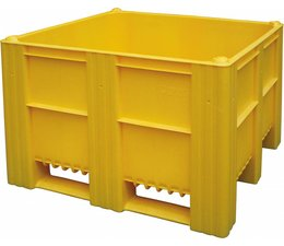 DOLAV Box pallet 1200x1000x740 mm, volume 620 l, 3 skids, heavy duty, food proved plastic