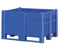 DOLAV Box Pallet 1200x1000x740 • 600L blue solid