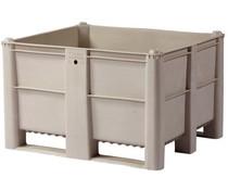 DOLAV Palettenbox 1200x1000x740 • 600L grau geschlossen