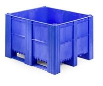 DOLAV Box Pallet 1200x1000x740 • 620L blue solid