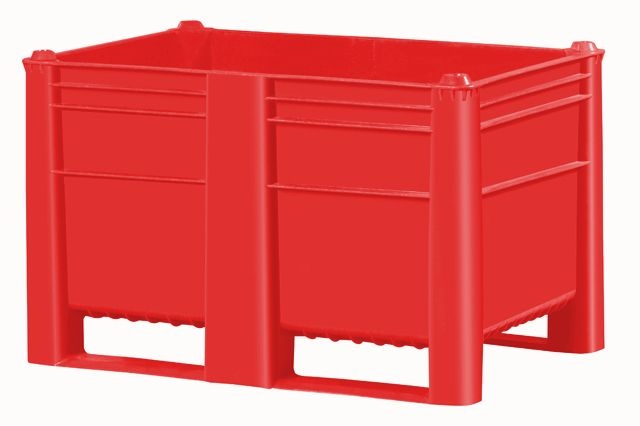 Plastic Box Pallet 1200x800x740 500l Red Solid Genteso