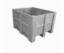 DOLAV Box Pallet 1200x1000x740 • 620L grey perforated
