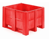DOLAV Palettenbox 1200x1000x740 • 620L rot geschlossen