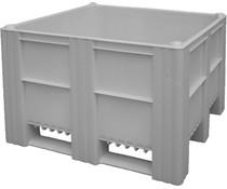 DOLAV Box Pallet 1200x1000x740 • 620L grey solid