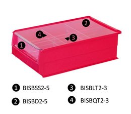 Dust cover for storage bins type BISB5