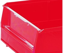 Hinged transparent front cover for storage bins BISB2 10 pieces