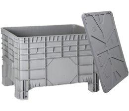 Sehr Gut Kunststoff Großvolumenbehälter 1040x640x670 mit Deckel | - Genteso QX63