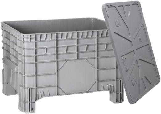 kunststoff gro volumenbeh lter 1040x640x670 mit deckel. Black Bedroom Furniture Sets. Home Design Ideas