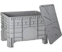 Plastic large volume boxes for bulk transportation