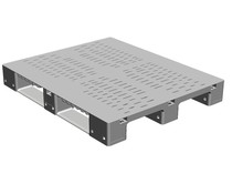 DOLAV Heavy-duty pallet 1200x1000x150 grey perforated